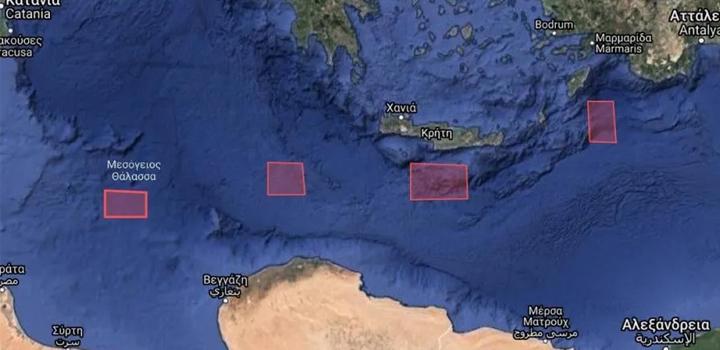 NAVTEX για πρώτη φορά νότια της Κρήτης και της Γαύδου εξέδωσε η Τουρκία!