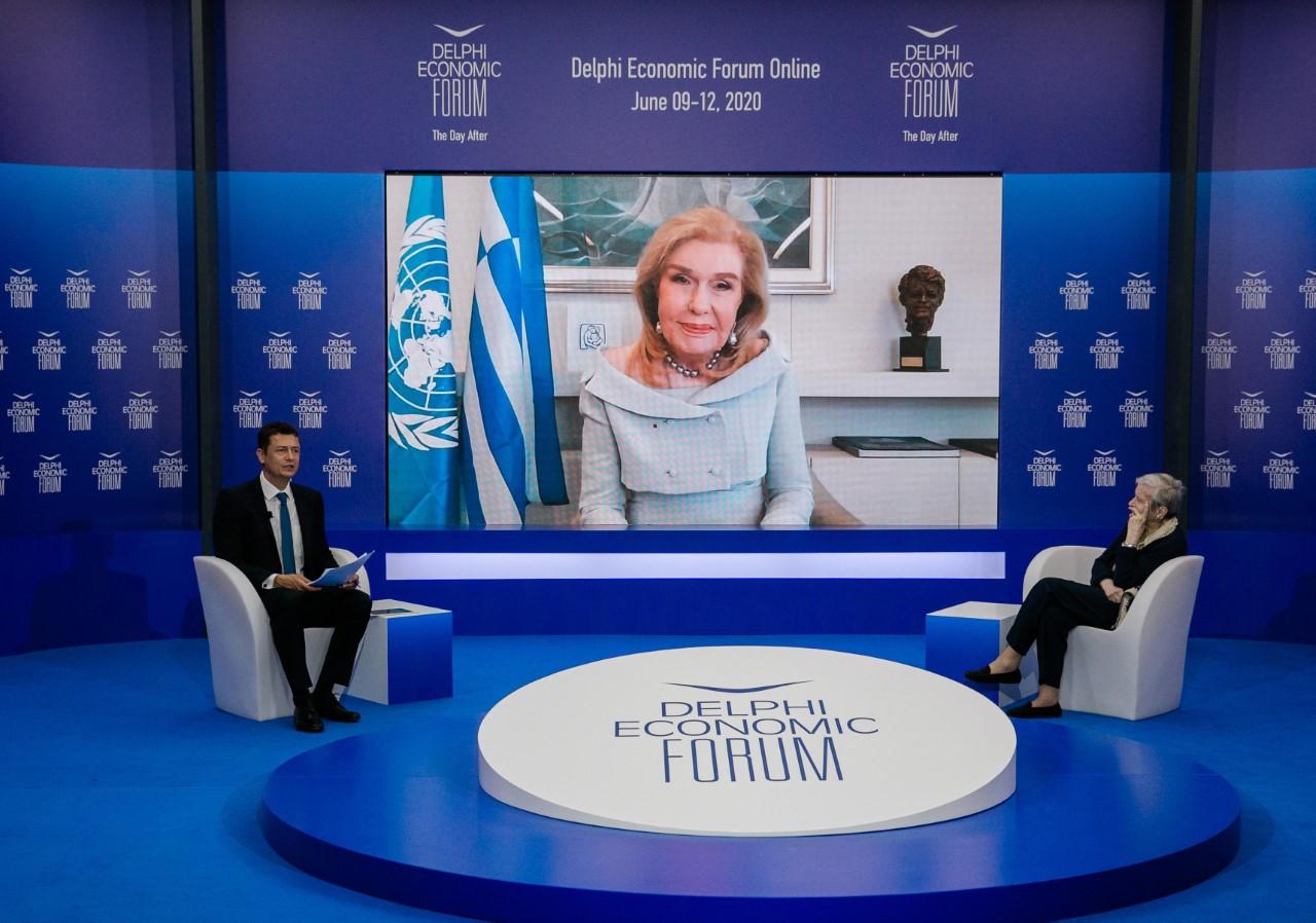 Η Μαριάννα Β. Βαρδινογιάννη στο Delphi Economic Forum