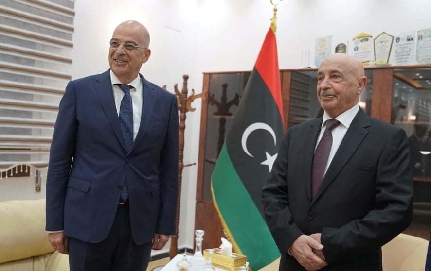 Δένδιας και πρόεδρος βουλής Λιβύης καταδίκασαν την Τουρκία: Ιστορικές οι ευθύνες της – Συζήτηση και για την ΑΟΖ