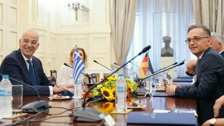 Διάλογος με απειλές δεν γίνεται είπε ο Δένδιας στον Μάας για την Τουρκία: Να σταματήσει η Άγκυρα τις παρανομίες ζήτησε ο Γερμανός υπουργός