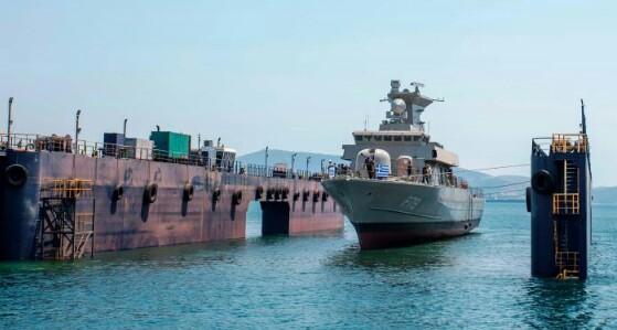 Καθέλκυση της 7ης πυραυλακάτου στα ναυπηγεία Ελευσίνας