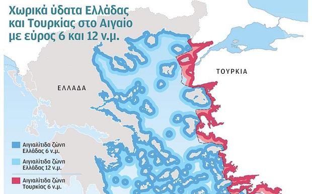 Η Τουρκία, λόγω γεωγραφίας, στερείται θαλασσίων ζωνών με πλούσιους ορυκτούς πόρους