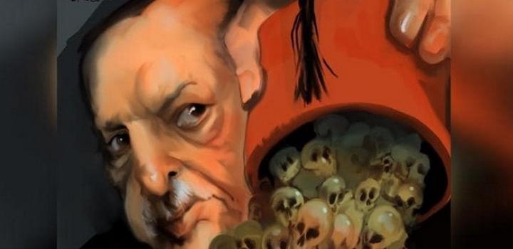Αιχμηρό σκίτσο κατά Ερντογάν στην Αυστραλία – Φέσι με νεκροκεφαλές και ένα πύρινο άρθρο