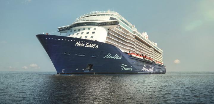 TUI Cruises: Το Mein Schiff 6 έφτασε σήμερα στον Πειραιά