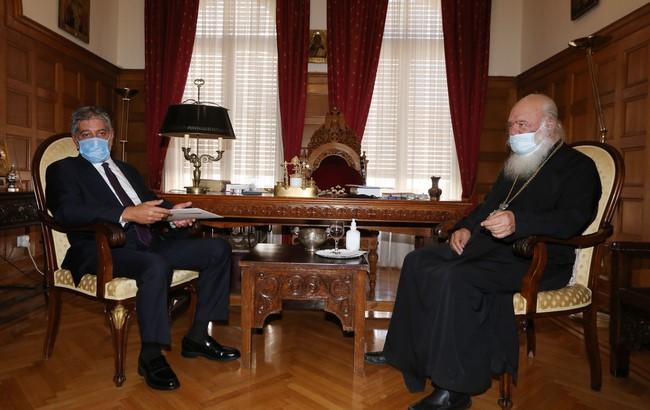 Συνάντηση Μακαριωτάτου με τον Πρέσβη της Παλαιστίνης κ. Μarwan Toubassi