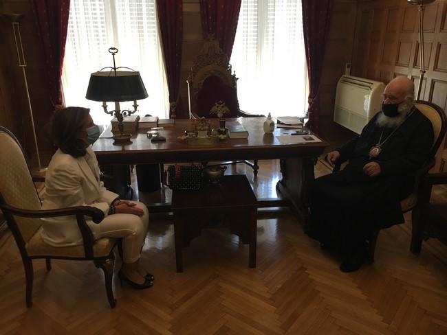 Συνάντηση Αρχιεπισκόπου με την Πρέσβειρα του Λιβάνου Dona Barakat