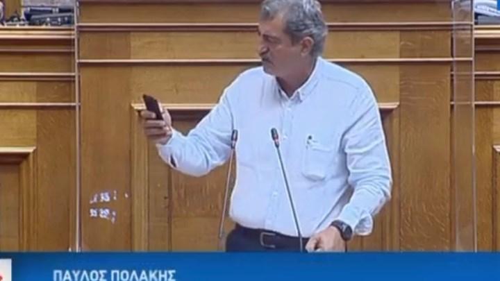 """""""Όχι"""" στην άρση ασυλίας Πολάκη – Έκλεισε την ομιλία του με τραγούδι του Στέλιου Καζαντζίδη"""