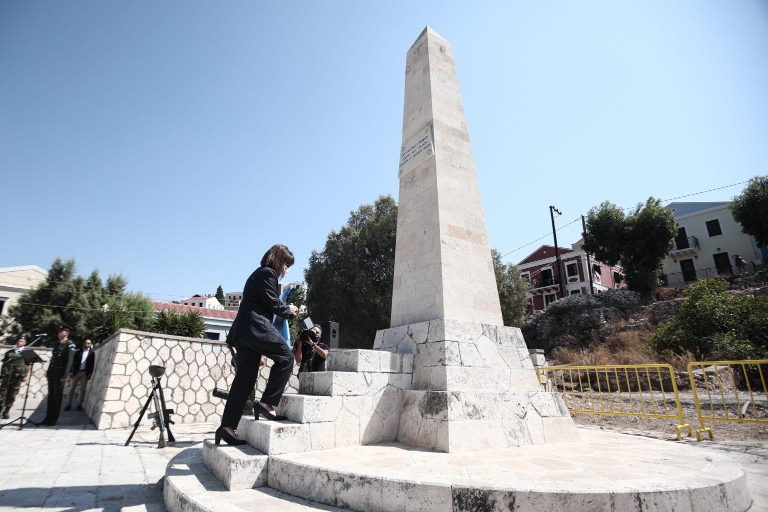 """Σακελλαροπούλου από Καστελόριζο: """"Το γεγονός ότι δεν ανανεώθηκε η τουρκική Navtex είναι βήμα προς τη σωστή κατεύθυνση»"""