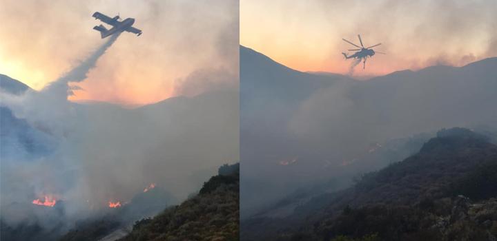 Δύσκολη νύχτα – Μάχη με τις φλόγες στα Αννινάτα Κεφαλονιάς – Nέες εστίες φωτιάς σε Καπανδρίτι, Καμπιτσάτα και Αγία Ειρήνη