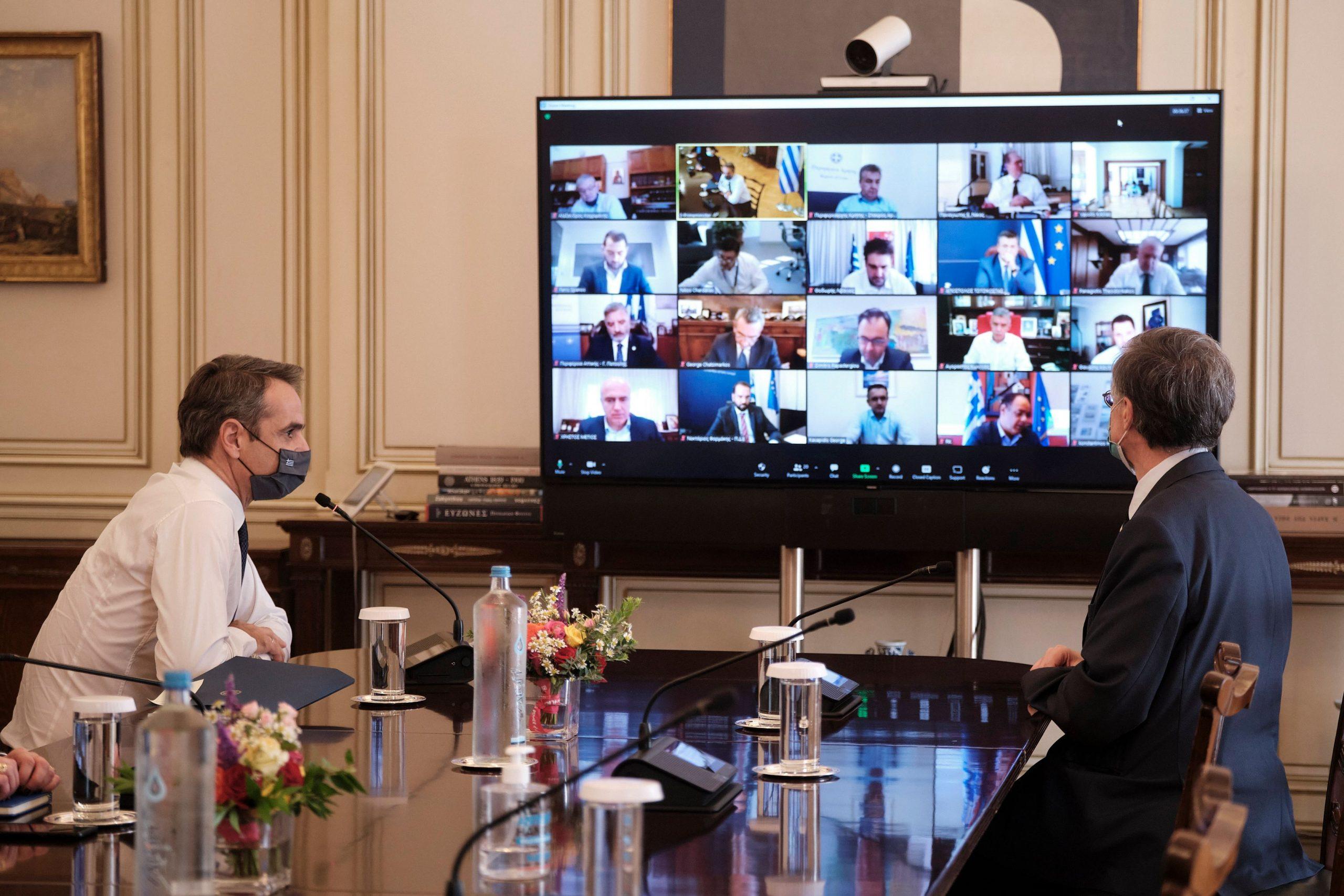 Στενότερη συνεργασία από τους περιφερειάρχες για την αντιμετώπιση της πανδημίας, ζήτησε ο Κυρ. Μητσοτάκης