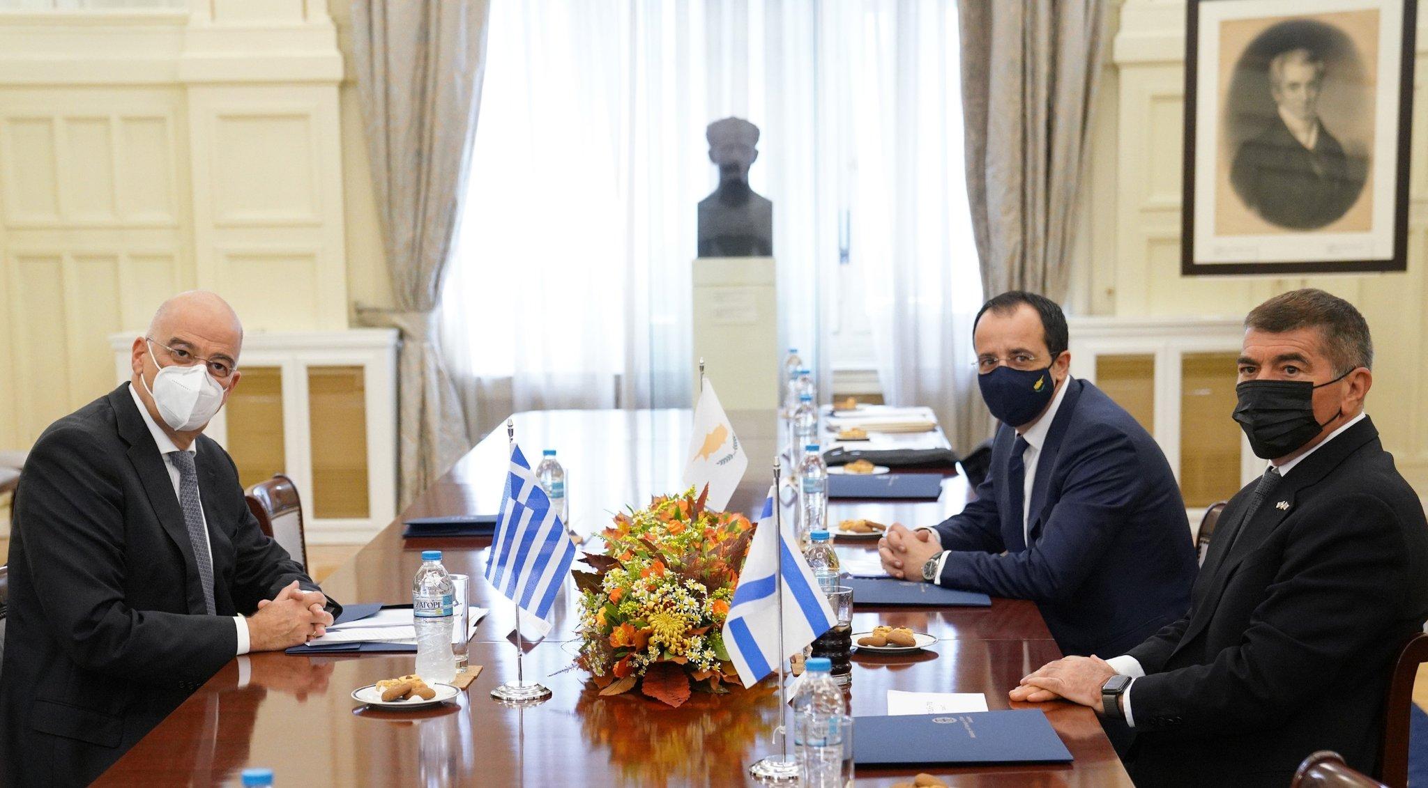 Τριμερής Ελλάδας, Κύπρου, Ισραήλ – Δένδιας: Η Τουρκία δυναμιτίζει οποιαδήποτε προσπάθεια εποικοδομητικού διαλόγου