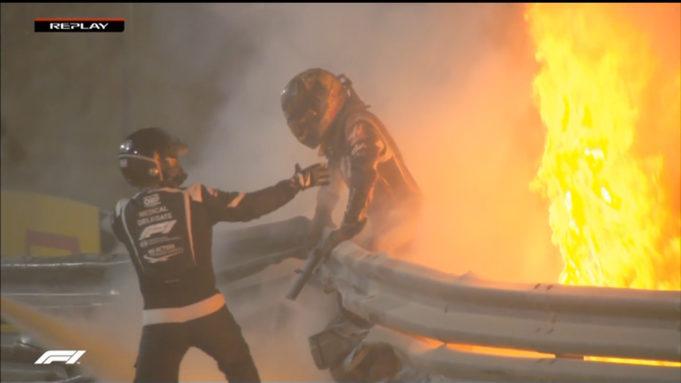 Formula 1: Κόπηκε στα δύο και εξερράγη το μονοθέσιο του Γκροζάν – Δείτε το video
