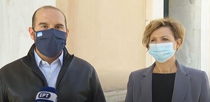 Δηλώσεις Δ. Τζανακόπουλου και Ό. Γεροβασίλη αμέσως μετά την επίσκεψή τους στο νοσοκομείο Σωτηρία (video)