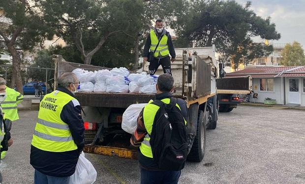 Δήμος Παλλήνης: Ολοκληρώθηκε η διανομή τροφίμων σε δικαιούχους ΤΕΒΑ