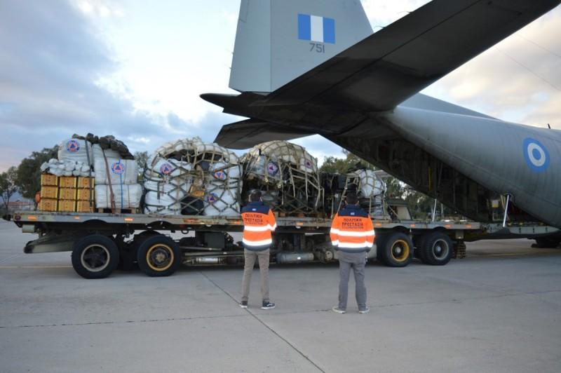 Η Ελλάδα έστειλε με C-130 βοήθεια στη σεισμόπληκτη Κροατία