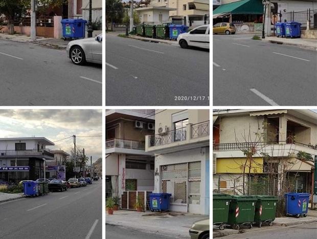 Νέοι μπλε κάδοι ανακύκλωσης σε κεντρικά σημεία της Σαλαμίνας τοποθετήθηκαν σήμερα από τον Δήμο