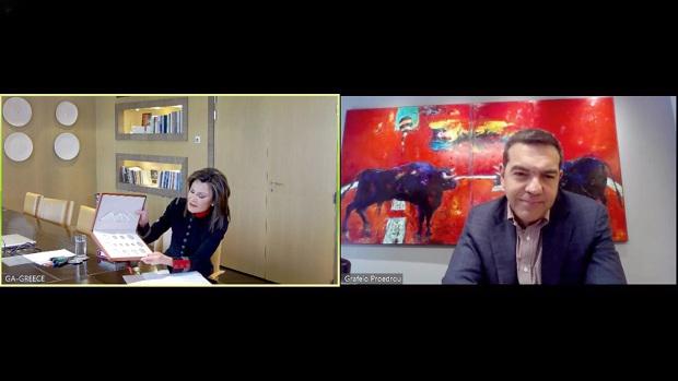 Τηλεδιασκέψεις της Προέδρου της Επιτροπής «Ελλάδα 2021» με τους Αρχηγούς κοινοβουλευτικών κομμάτων της Αντιπολίτευσης