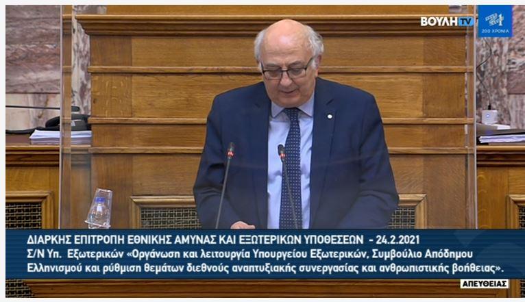 Αμανατίδης: «Η υποχρηματοδότηση και υποστελέχωση του ΥΠΕΞ, βλάπτει σοβαρά τα εθνικά μας συμφέροντα» (βίντεο)