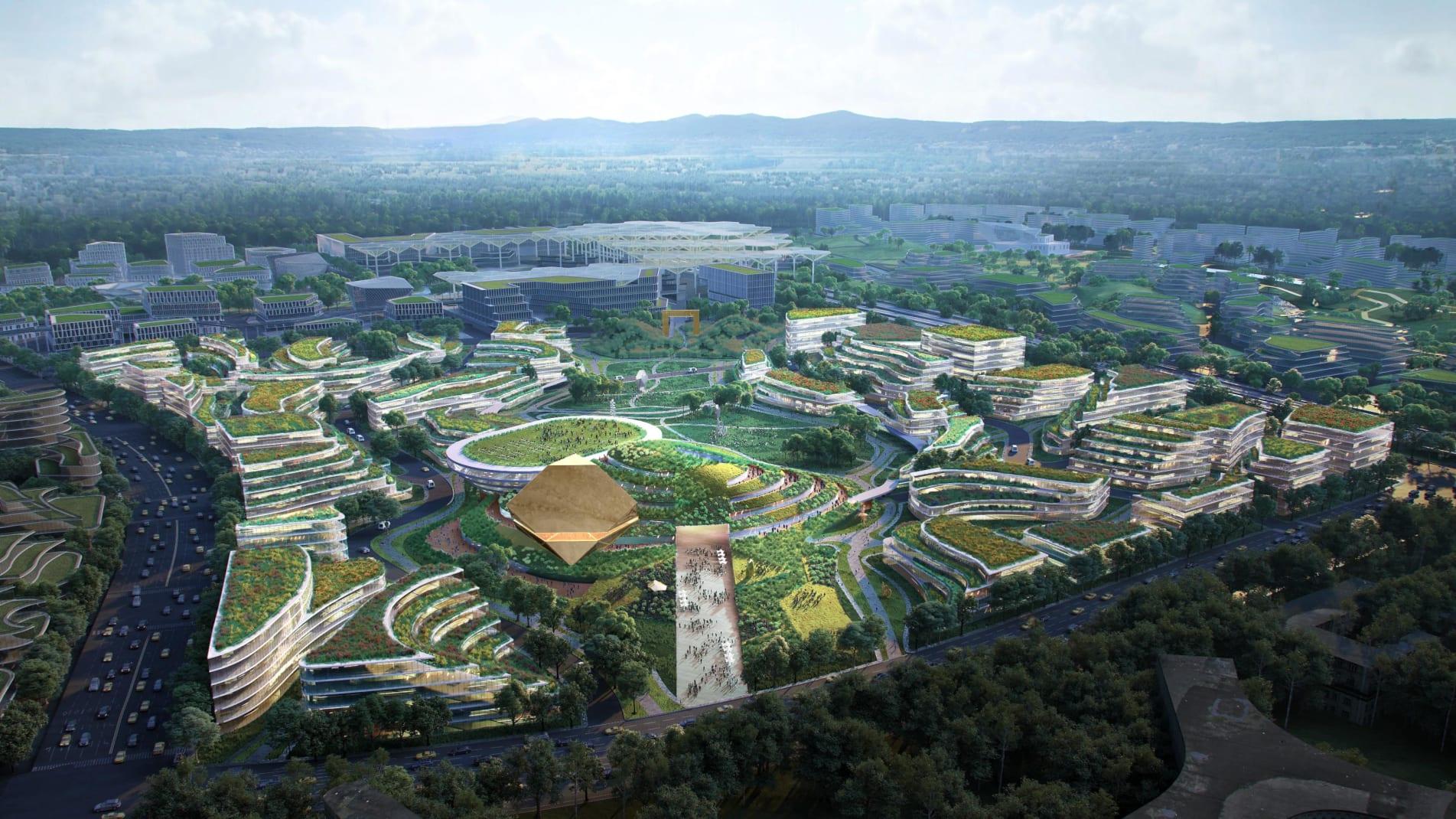 Αναδύεται μία νέα πόλη του μέλλοντος που συνδυάζει τεχνολογία και φύση