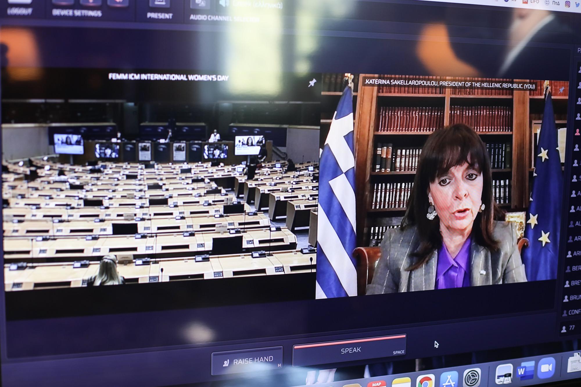 ΠτΔ στο Ευρωκοινοβούλιο: Η ισότητα είναι μια πρόκληση που δεν αφορά μόνο τις γυναίκες, αλλά όλους μας