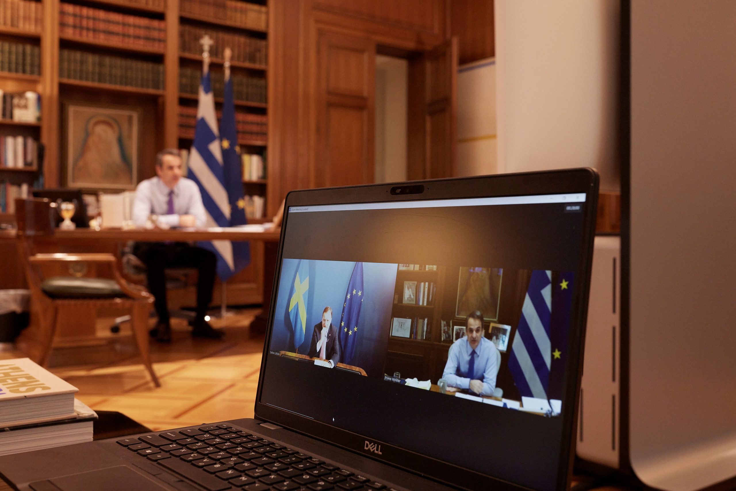 Τηλεδιάσκεψη του Κυρ. Μητσοτάκη με τον πρωθυπουργό της Σουηδίας
