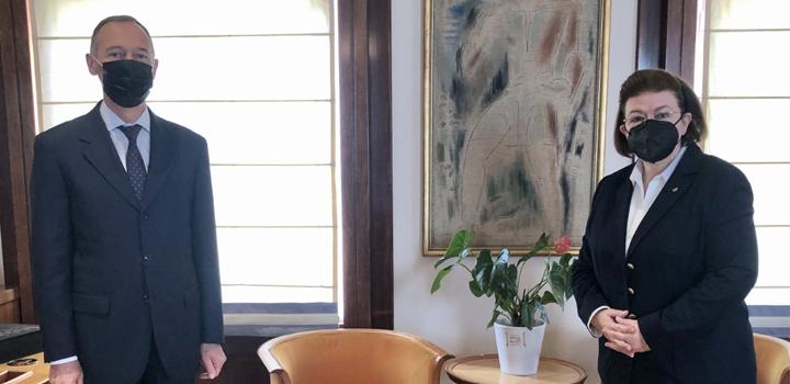 Συνάντηση της Υπουργού Πολιτισμού και Αθλητισμού Λίνας Μενδώνη με τον Πρέσβη της Ρωσικής Ομοσπονδίας Andrey M. Maslov