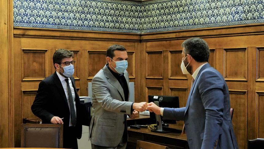Συνάντηση του Αλ. Τσίπρα με αντιπροσωπεία του προεδρείου της Ένωσης Δικαστών και Εισαγγελέων