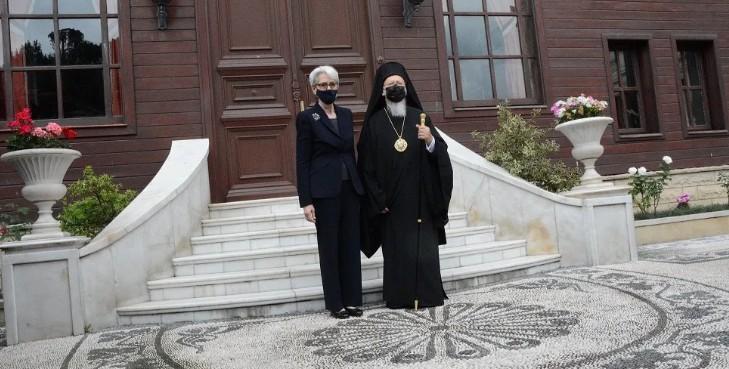 Στο Φανάρι η Αμερικανίδα αναπληρώτρια ΥΠΕΞ: Συνάντηση Πατριάρχη Βαρθολομαίου με Πρόεδρο Μπάιντεν τον Οκτώβριο