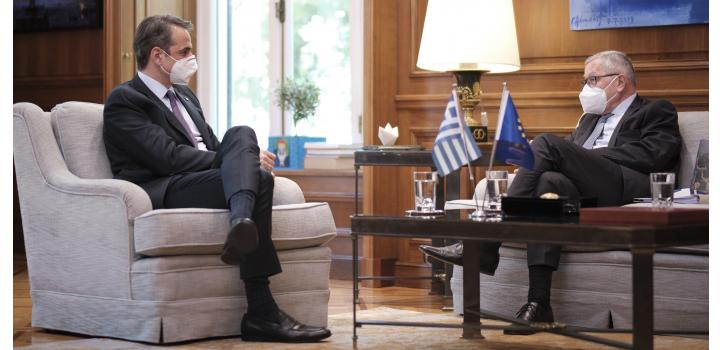 Κ. Μητσοτάκης: Η πανδημία δεν σταμάτησε τις μεταρρυθμίσεις – Κ. Ρέγκλινγκ: Καλό το ελληνικό σχέδιο ανάκαμψης