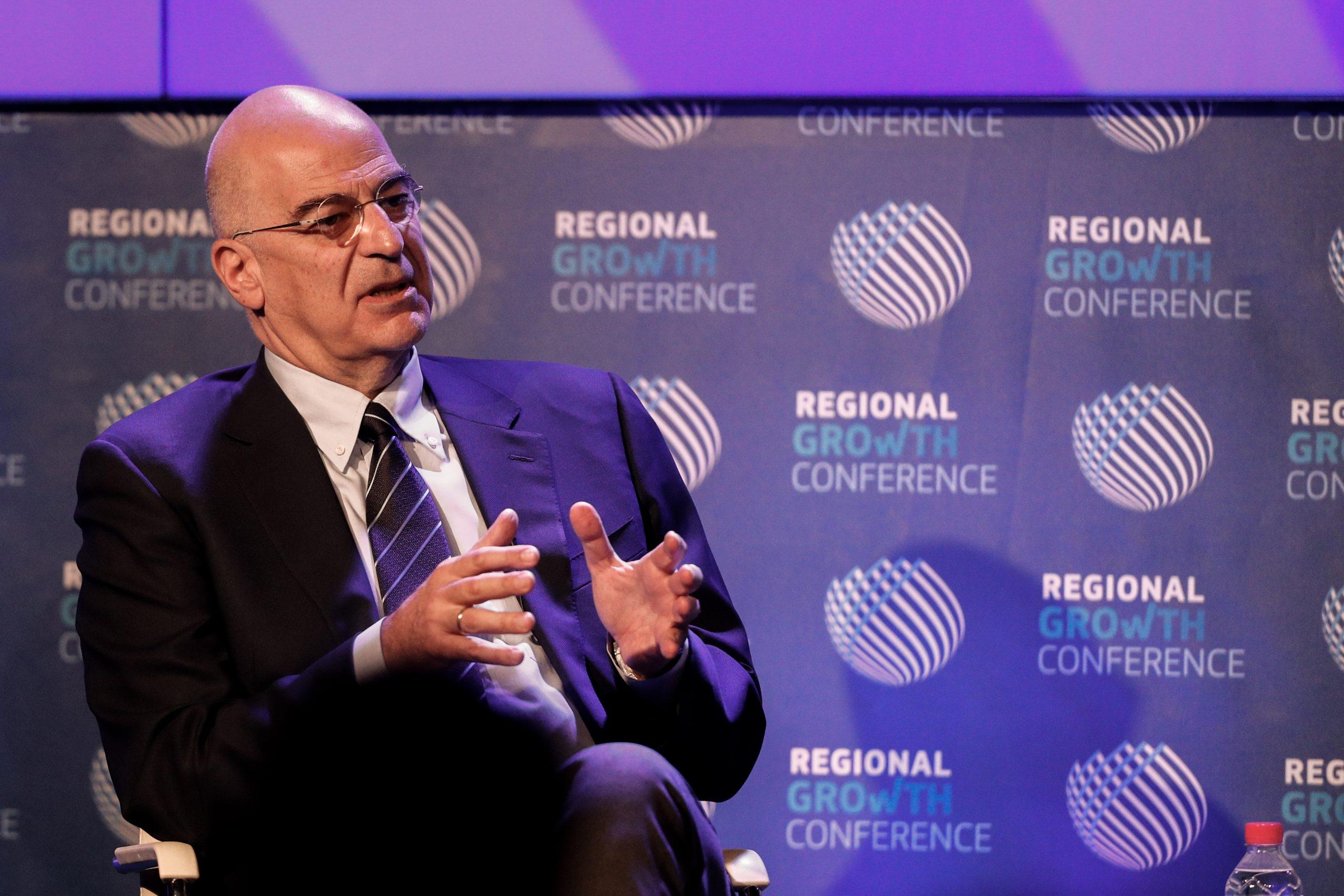 Regional Growth Conference – Ν. Δένδιας: Δεν υπάρχει καμία πιθανότητα να αποστούμε από τις πάγιες εθνικές θέσεις