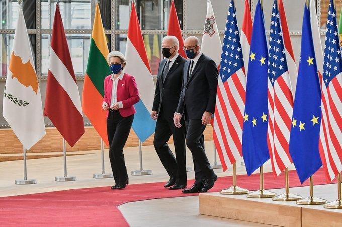 Την ανάγκη μιας «βιώσιμης» αποκλιμάκωσης στην Ανατολική Μεσόγειο, υπογραμμίζει η δήλωση της Συνόδου ΕΕ-ΗΠΑ
