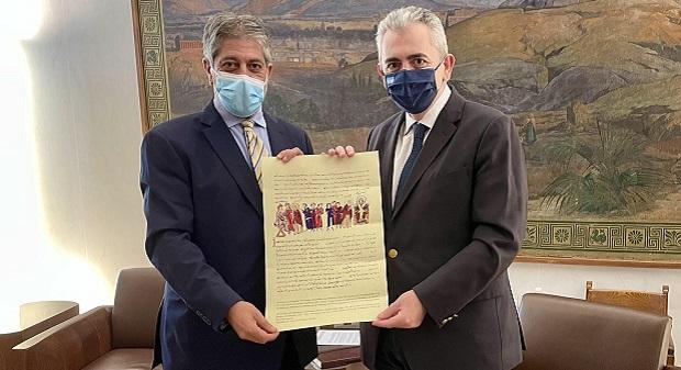 Μάξιμος Χαρακόπουλος με πρέσβη Παλαιστίνης: «Κίνδυνος εξαφάνισης των Χριστιανών στους Αγίους Τόπους»