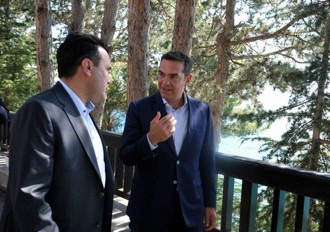Βόρεια Μακεδονία: Την σημασία της πιστής εφαρμογής της Συμφωνίας των Πρεσπών τόνισε στον Ζόραν Ζάεφ ο Αλ.Τσίπρας