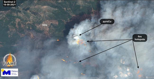Meteo: Η «έκρηξη» της δασικής πυρκαγιάς στα Βίλια