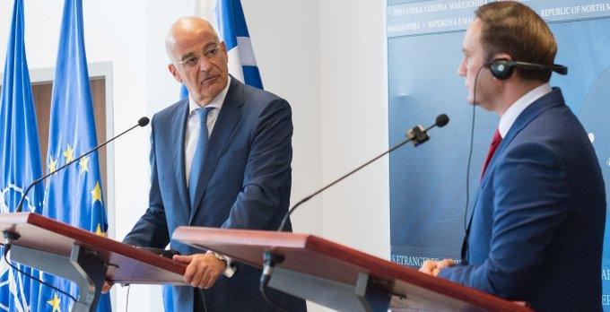 Ν. Δένδιας και Μπ. Οσμάνι: Σε ανοδική πορεία οι σχέσεις Αθήνας-Σκοπίων