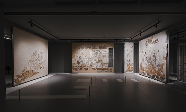 Εγκαίνια της έκθεσης των θηραϊκών τοιχογραφιών στο Μουσείο Προϊστορικής Θήρας από την Υπουργό Πολιτισμού και Αθλητισμού
