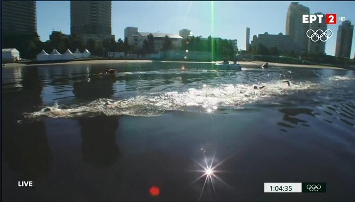 Πέμπτος Ολυμπιονίκης ο Άλκης Κυνηγάκης, στα 10χλμ. κολύμβησης σε ανοιχτή θάλασσα