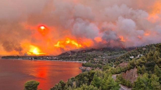«Ολοκαύτωμα» στην Εύβοια – Έχουν καεί τουλάχιστον 150 σπίτια – «Εκλιπαρούμε για βοήθεια»