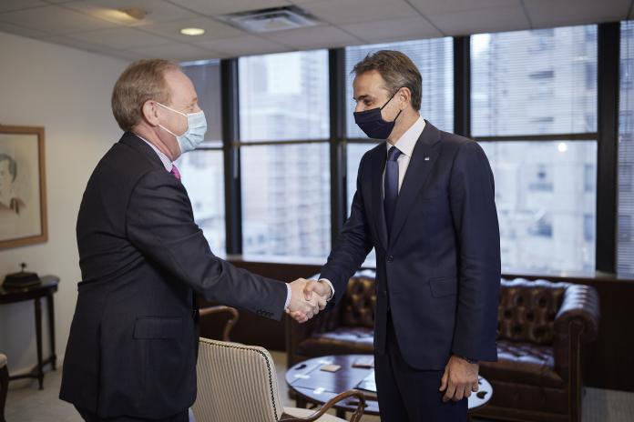 Συνάντηση του Κυρ. Μητσοτάκη με τον πρόεδρο της Microsoft B. Smith