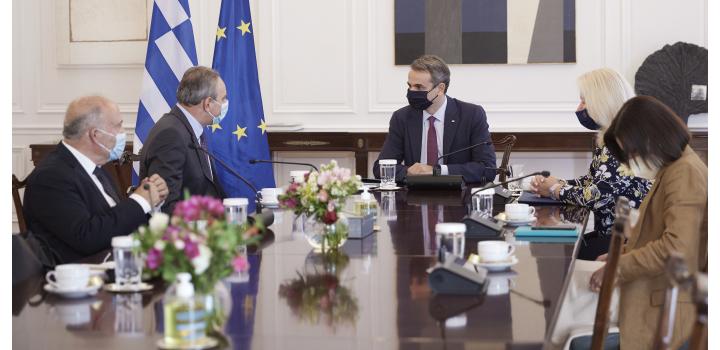 Μητσοτάκης: Απόλυτος συντονισμός Ελλάδας – Κύπρου σε θέματα που αφορούν τις δύο χώρες – Συνάντηση με τον Στέφανο Στεφάνου