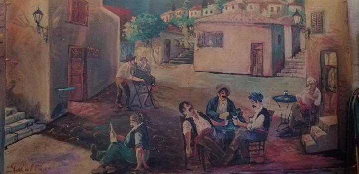 Νεώτερο μνημείο η λαϊκή τέχνη του Γιώργου Σαββάκη στις ταβέρνες της Πλάκας (φωτο)