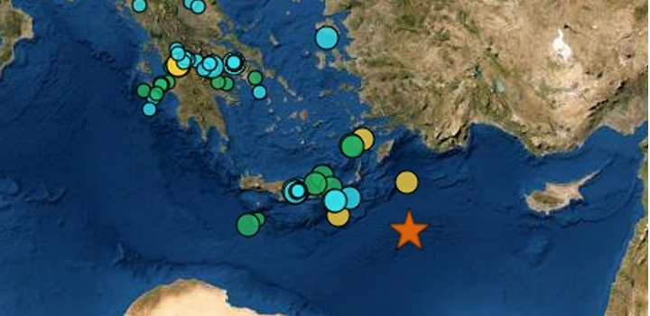 Ισχυρός σεισμός 6,1 Ρίχτερ στον θαλάσσιο χώρο ανοιχτά της Καρπάθου – 58 χιλιόμετρα το εστιακό βάθος