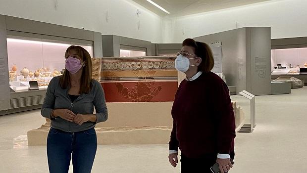 Αυτοψία στο υπό κατασκευή Αρχαιολογικό Μουσείο Χανίων πραγματοποίησε η Υπουργός Πολιτισμού και Αθλητισμού Λίνα Μενδώνη