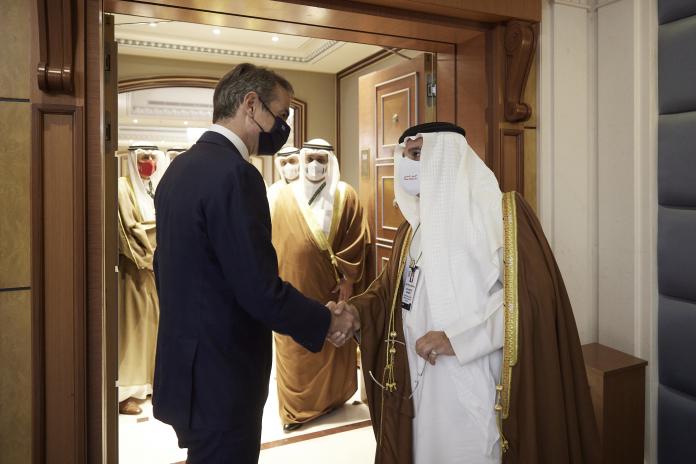 Συνάντηση Μητσοτάκη με τον Πρίγκιπα Διάδοχο του Μπαχρέιν Salman bin Hamad Al Khalifa