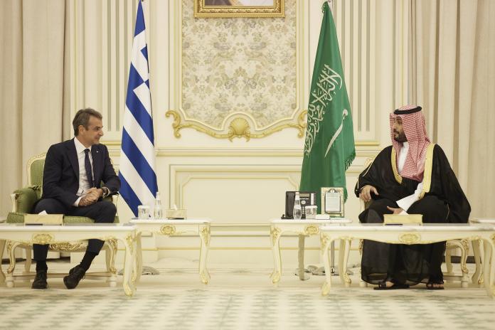 Μητσοτάκης – Mohammed bin Salman bin Abdulaziz Al Saud: Συζητήσεις για επενδύσεις, ενέργεια, τουρισμό και άμυνας