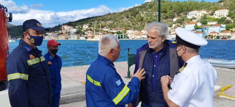 Χρ. Στυλιανίδης από Ιθάκη: «Είμαστε εδώ για να δώσουμε λύσεις στα προβλήματα που άφησε η κακοκαιρία»