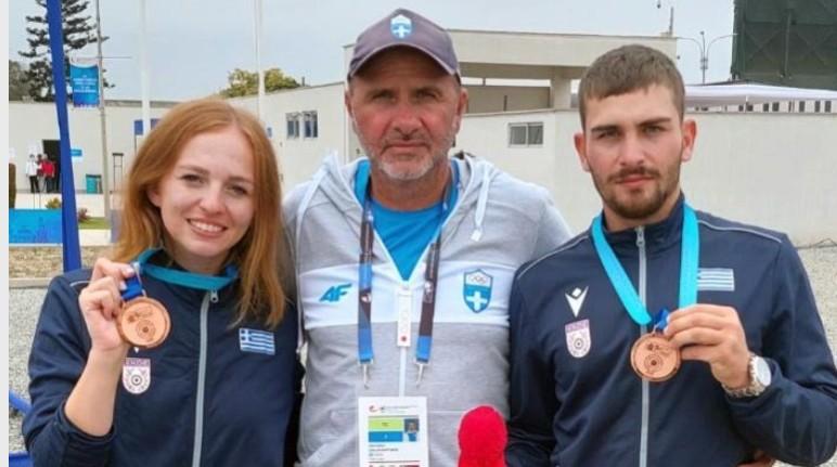 ΣΚΗΤ: Χάλκινο Μετάλλιο στο Παγκόσμιο Πρωτάθλημα Εφήβων & Νεανίδων οι Κατσουράκη – Φρατζεσκάκης