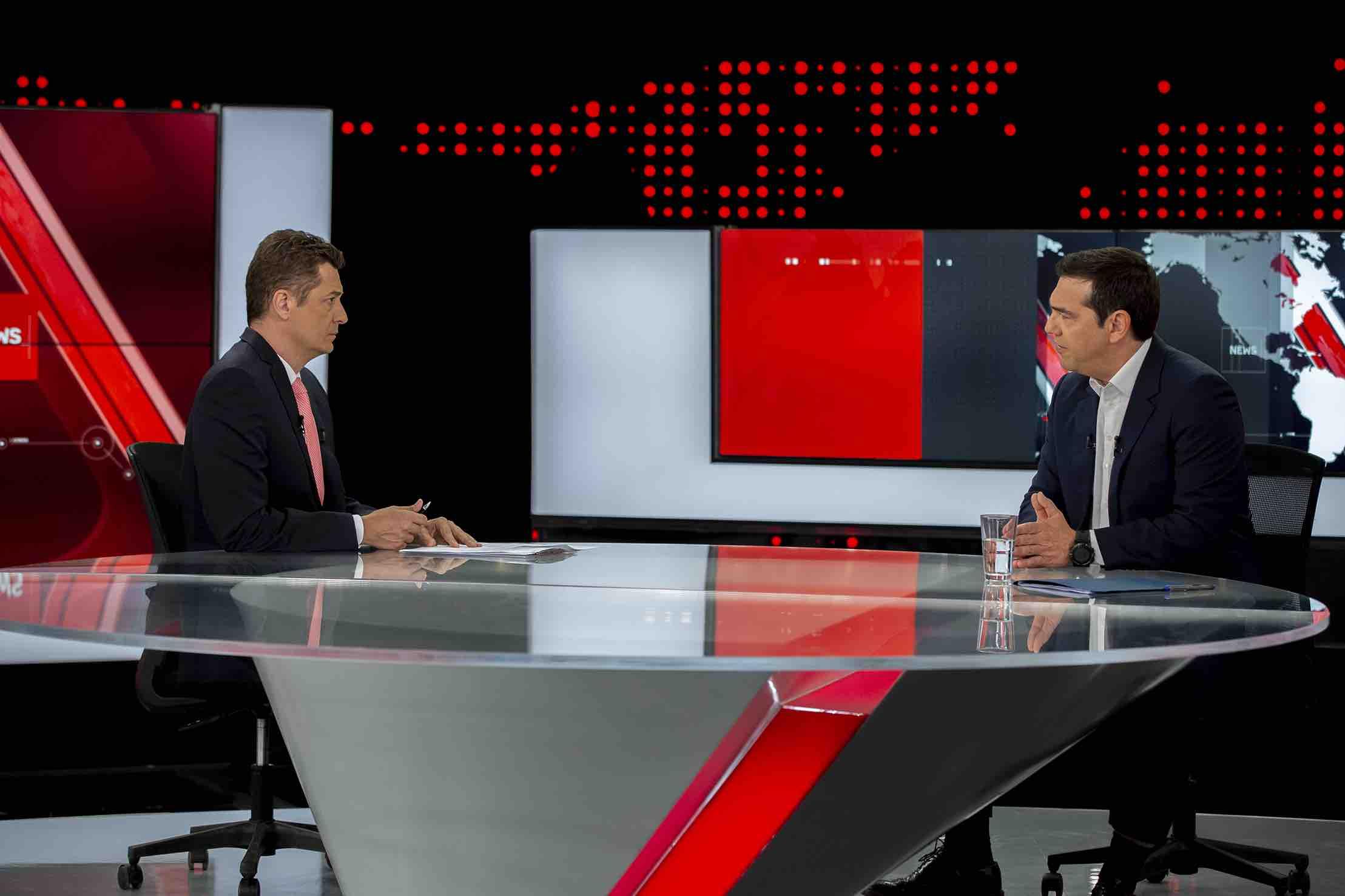 Ο Πρόεδρος του ΣΥΡΙΖΑ Αλέξης Τσίπρας απόψε στο Κεντρικό Δελτίο Ειδήσεων του Alpha