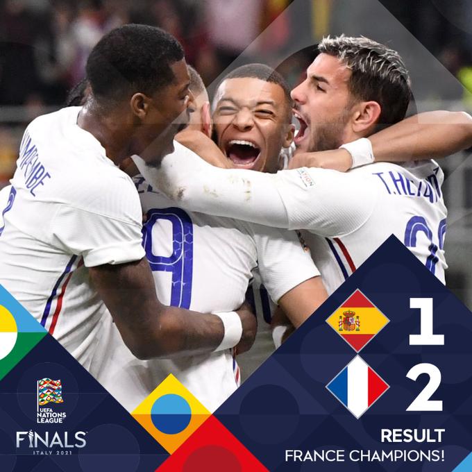 Η Γαλλία κατέκτησε το Nations League – Νίκησε 2-1 την Ισπανία