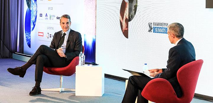 Κυρ. Μητσοτάκης στο Καθημερινή Summits, ESG: Πρέπει να είμαστε τολμηροί για να μειώσουμε τις εκπομπές